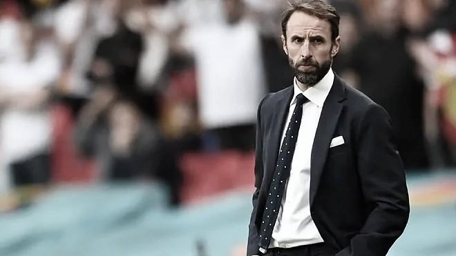 Gareth Southgate durante un partido de la euro 2020. / Foto: Getty Images.