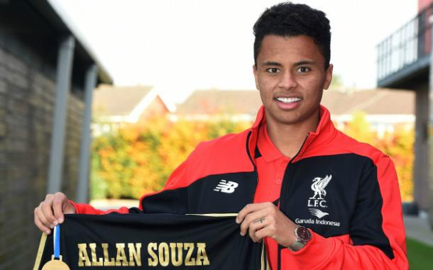 Allan is yet to make a competitive appearance for Liverpool due to work permit issues (photo; LFC)