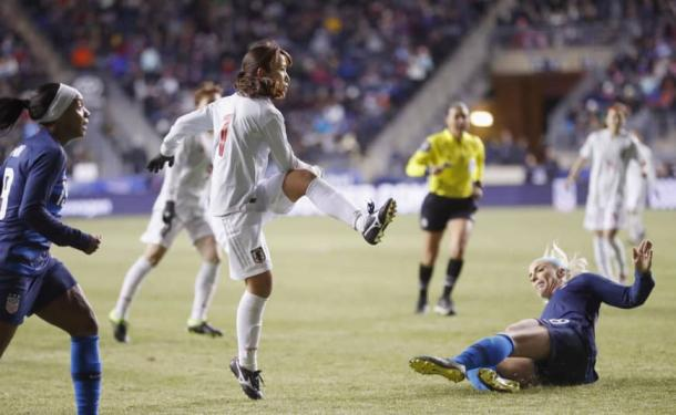 Japan showed great resilience against the USWNT | Source: Jiji KyodoAFP