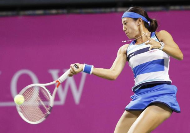 Miyu Kato in action | Photo: Kyodo