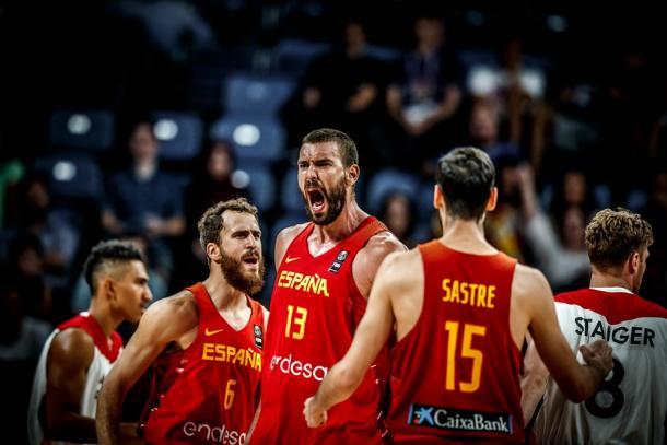 La grinta di Gasol, Marc, nel momento decisivo dell'incontro - Foto FIBA