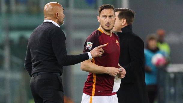 Luciano Spalletti e Francesco Totti - Foto Corriere Dello Sport