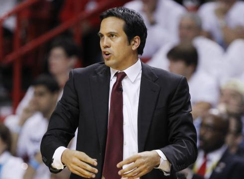 From starting 11-30 to 39-41, coach Erik Spoelstra has done no one thought and that is on the verge of making the playoffs. Photo: Lynne Sladky/AP
