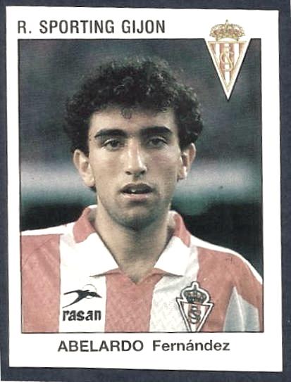 Abelardo en su paso por el Sporting como jugador Fotografía: Panini