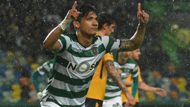 Montero celebra el único gol del encuentro | Foto: Sporting CP