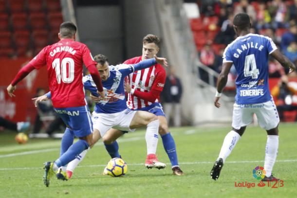 La intensidad del Sporting fue notoria durante la totalidad del encuentro | Imagen: LaLiga