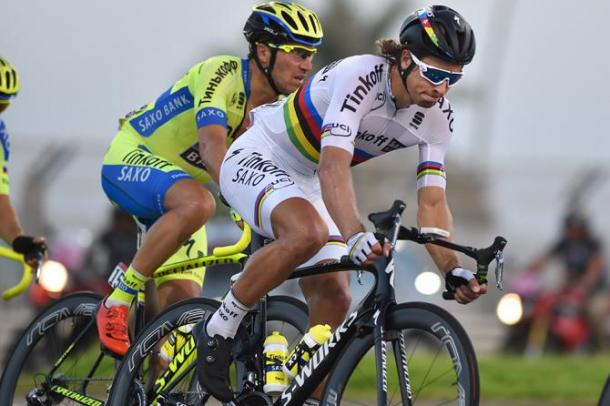 So far Sagan hasn't notched up a victory, but did gain his 70th second place in his career. | Photo: Cycling News