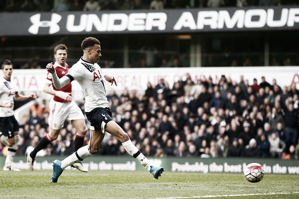Delli Ali sxores in the 3-0 win at White Hart Lane (Photo: Julian Levey / Getty Images)