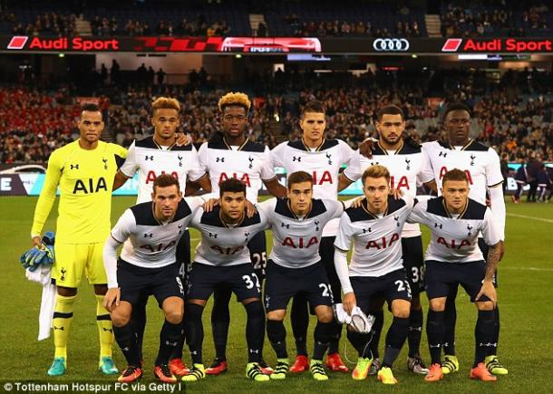 Spurs pictured before playing Atletico Madrid (photo: Getty Images)