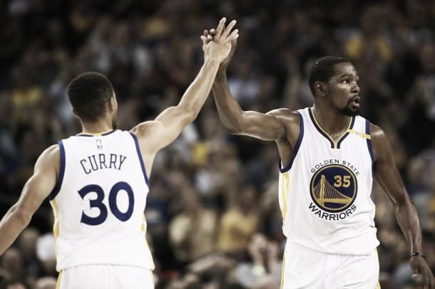 Curry and Durant both get Second Team honors. Photo: Getty Images