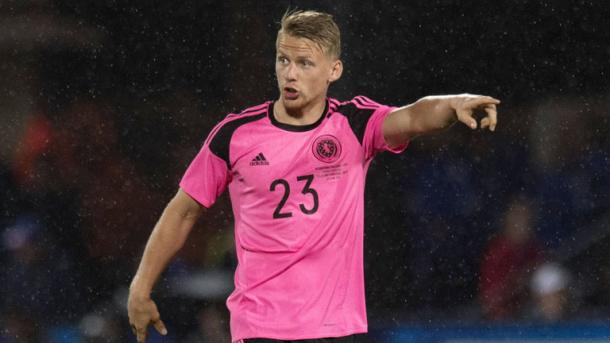 Stephen Kingsley's hard work in 2016 was rewarded with a senior Scotland debut this summer. (Photo: Sky Sports)