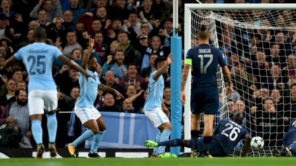 Il vantaggio inglese con Sterling - Foto Manchester City Twitter