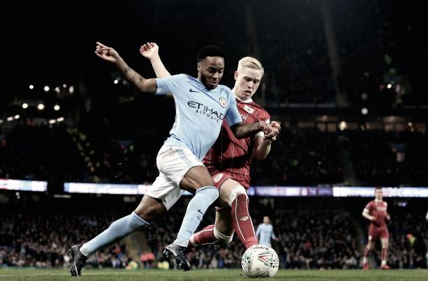 Raheem Sterling será un jugador a tener en cuenta en este partido./ Foto; Twitter Bristol City