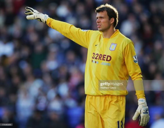 BOLTON, UNITED KINGDOM - OCTOBER 28: Stuart Taylor of Aston Villa in action during the Barclays Premier League match between Bolton Wanderers and Aston Villa at the Reebok Stadium on October 28, 2007 in Bolton, England. (Photo by Matthew Lewis/Getty Images)