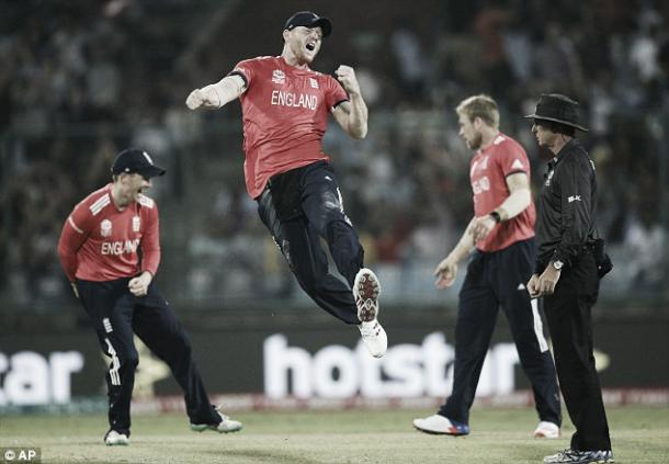 Stokes celebrates against Sri Lanka (photo: AP)