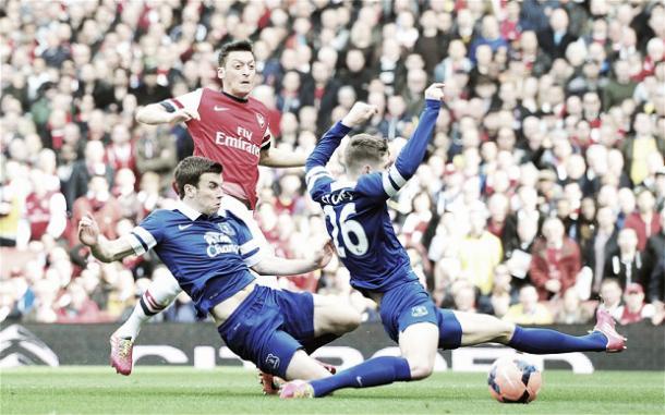 Everton's John Stones against Arsenal