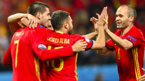 Jordi Alba and Andres Iniesta were at the centre of most Spain attacks. | Image credit: Getty Images