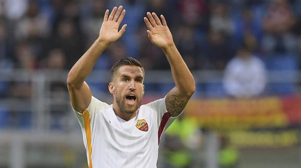 Strootman chiede il cambio all'Olimpico - Foto As Roma Twitter