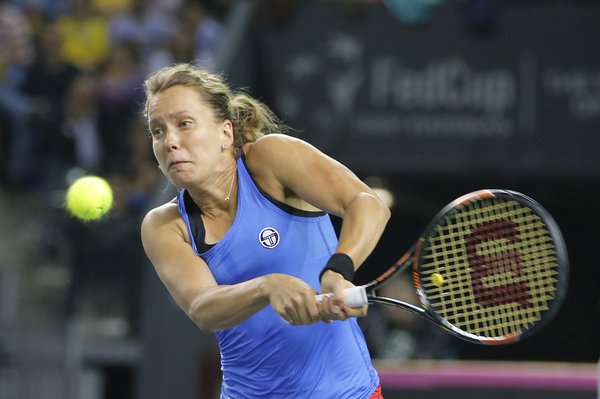 Barbora Strycova was part of the team which won last year's Fed Cup (Source: Fed Cup on Twitter)