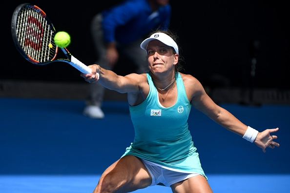 Strycova was competing in her third Grand Slam fourth round match (Photo by William West / Getty Images)