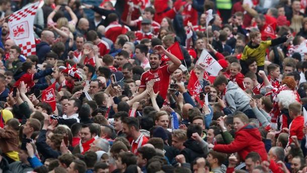 Karanka signing Cristhian Stuani scored the goal that took Middlesbrough up | Photo: ITV