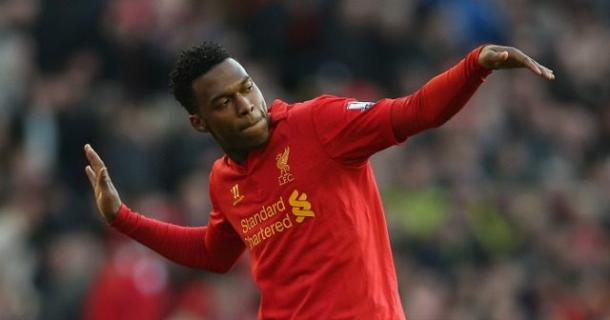 Daniel Sturridge e la sua tipica esultanza. | Fonte immagine: Empire Of The Kop