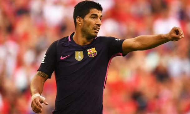 Suarez came up against his former club for the first time. (Picture: Liverpool FC via Getty Images)