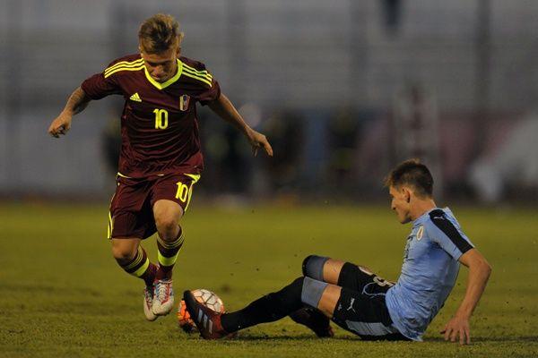 Soteldo ante Uruguay. FOTO: Sudamericano sub 20