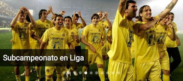 Equipo del Villarreal, celebrando el subcampeonato de Liga, conseguido en la temporada