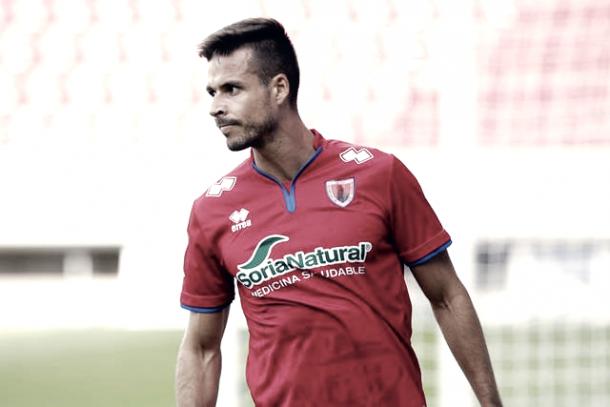 Manu Del Moral abandonará la entidad soriana con ocho goles en 31 partidos disputados. Autor: CD Numancia.