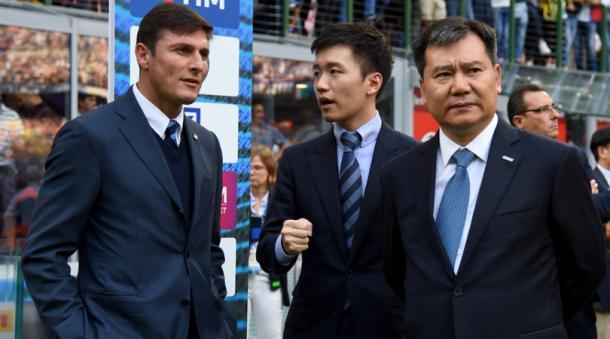 I vertici di Suning e Javier Zanetti. Fonte: Getty Images