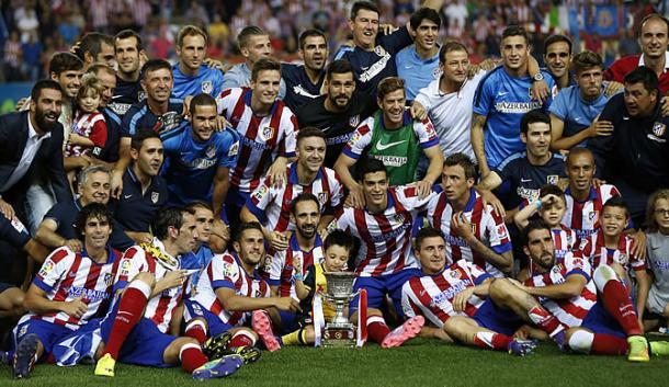 El Atlético de Madrid, campeón de la Supercopa de España 2014 / Fuente: EFE