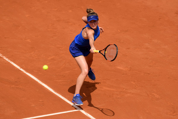 Svitolina in action against Ana Ivanovic on Day 7 of the French Open (Dennis Grombkowski/Getty Images)