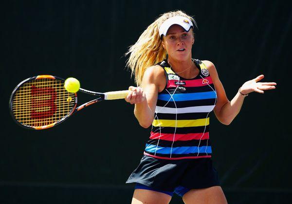 Elina Svitolina at the 2015 Miami Open. | Photo: Al Bello/Getty Images