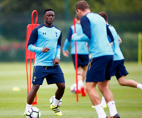 Wanyama (left) in pre-season training with his new side - whilst Saints prepare to replace the void left by the powerful Kenyan. | Photo: Getty