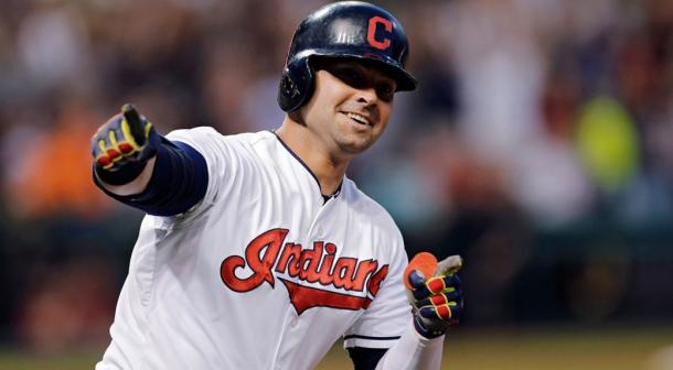 Nick Swisher in action with the Cleveland Indians.