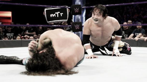 Tajiri made a surprise return. Photo- WWE.com