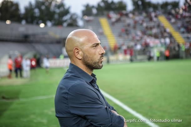 Antonio Calabro esta temporada / Foto: Carpi FC