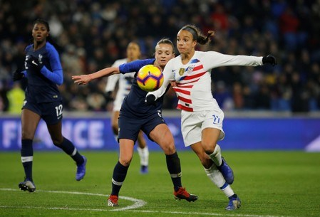 Mallory Pugh scored the lone USA goal in the 3-1 loss in France. | Photo: REUTERS - Pascal Rossignol
