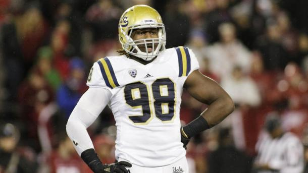 Takkarist McKinley wreaked havoc on offensive lines while at UCLA. (Source: Young Kwak/Associated Press)