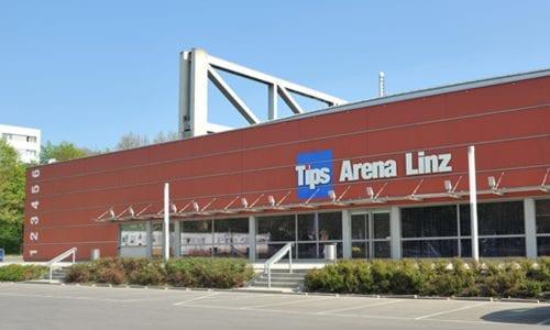 TipsArena is the venue of the Upper Austria Ladies Linz, located in the centre of the city. Photo: LIVA Sport