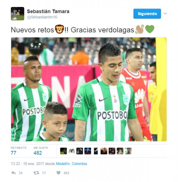 Foto: Twitter Sebastián Támara