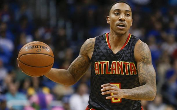 Jeff Teague joins forces with Paul George, Monta Ellis and Myles Turner. Photo: Reinhold Matay/USA TODAY Sports