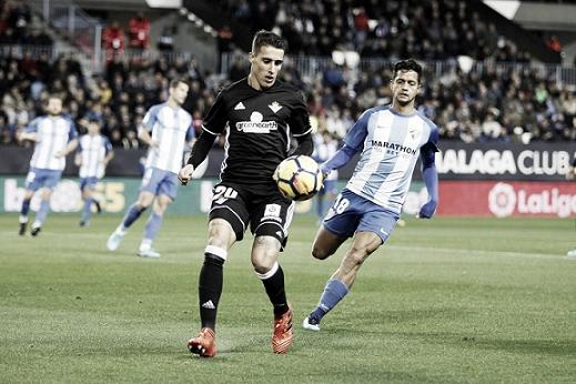 Tello en el partido ante el Málaga en La Rosaleda I Foto: Real Betis Balompié