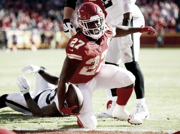 Kareem Hunt fue determinante en la recta final de la regular season | Foto: Chiefs.com