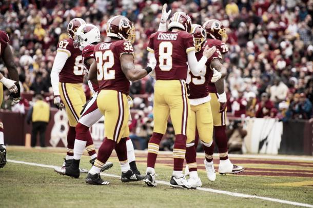 Kirk Cousins destacó con sus dos pases de TD  | Foto: Redskins.com