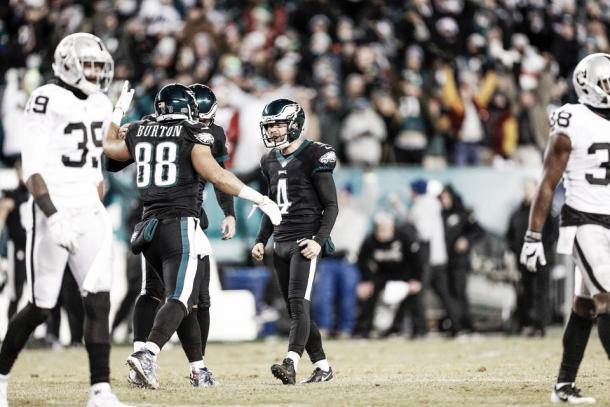 El kicker Jake Elliot dio la victoria a los Eagles | Foto: PhiladelphiaEagles.com