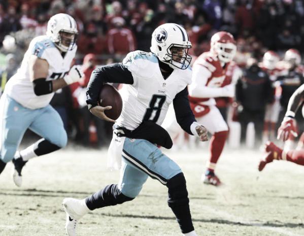 Marcus Mariota lidera el ataque de los Titans, pero con inconsistencias | Foto: TitansOnline.com