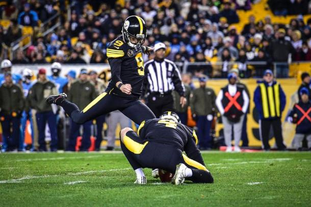 Chris Boswell picked up a 50 yard field goal as Pittsburgh went on to win the game | Source: steelers.com