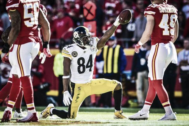 Antonio Brown es el mejor receptor del momento | Foto: Steelers.com